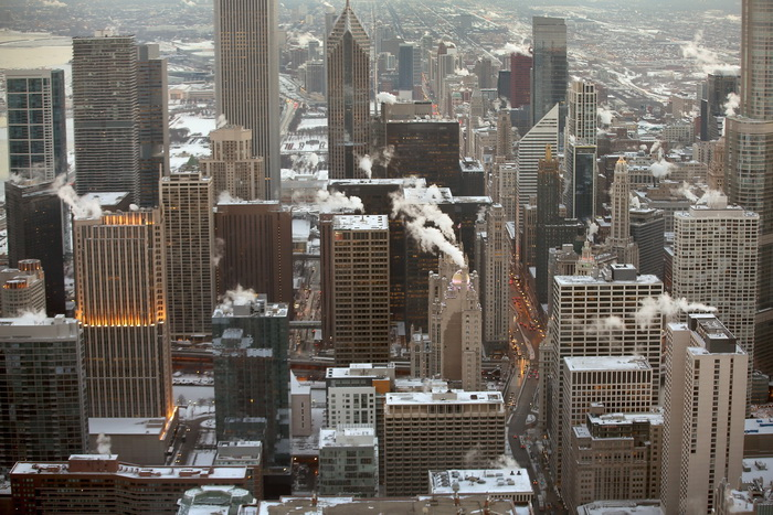 Чикаго, 7 января 2014 год. Американцы страдают от самых сильных за 20 лет морозов. Фото: Scott Olson/Getty Images