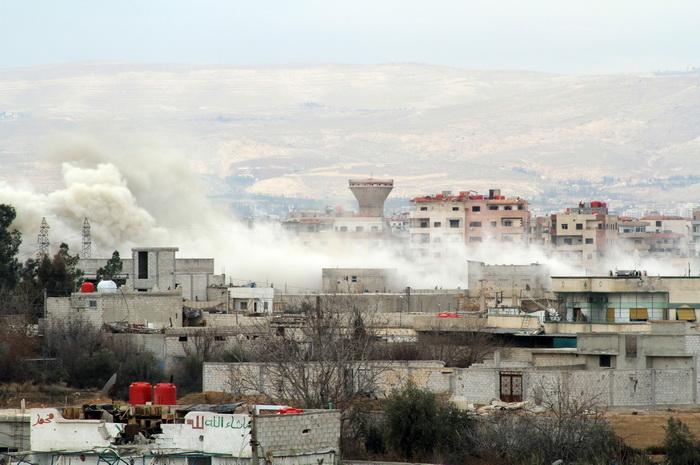 Дамаск, Сирия. Военное противостояние в Сирии продолжается. Фото: FADI DIRANI/AFP/Getty Images