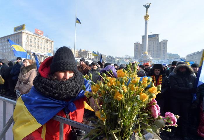Майдан Незалежности, Киев. Фото: SERGEI SUPINSKY/AFP/Getty Images