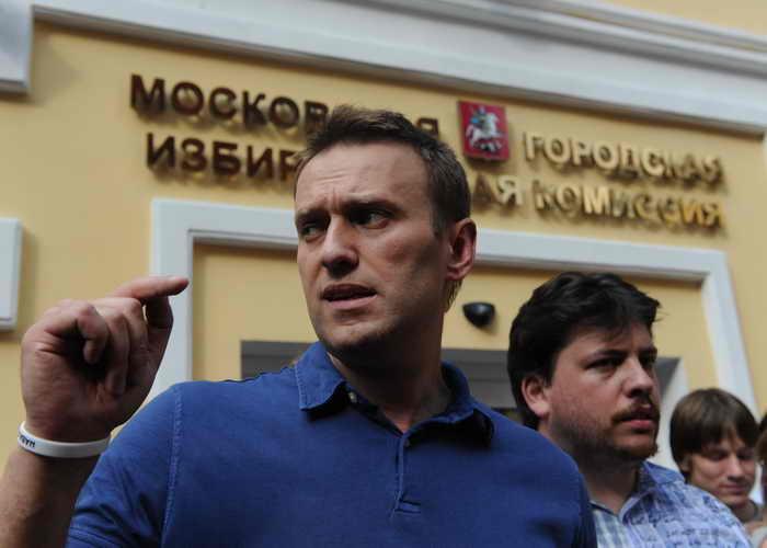 Сторонники Навального собрали 20 миллионов рублей на предвыборную кампанию. Кандидат в столичные мэры поблагодарил всех. Фото: VASILY MAXIMOV/AFP/Getty Images