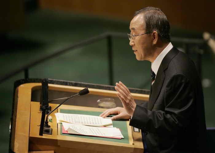 Договор о запрещении ядерных испытаний не ратифицировали 8 стран. Генеральный секретарь ООН Пан Ги Мун обратился к правительствам этих восьми стран с просьбой о подписании договора. Фото: STAN HONDA/AFP/Getty Images