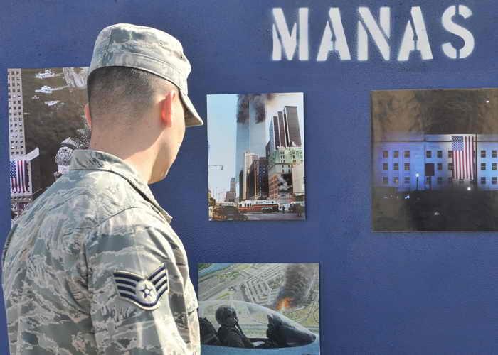 Военные США на базе «Манас» в Кыргызстане. Фото: VYACHESLAV OSELEDKO/AFP/Getty Images