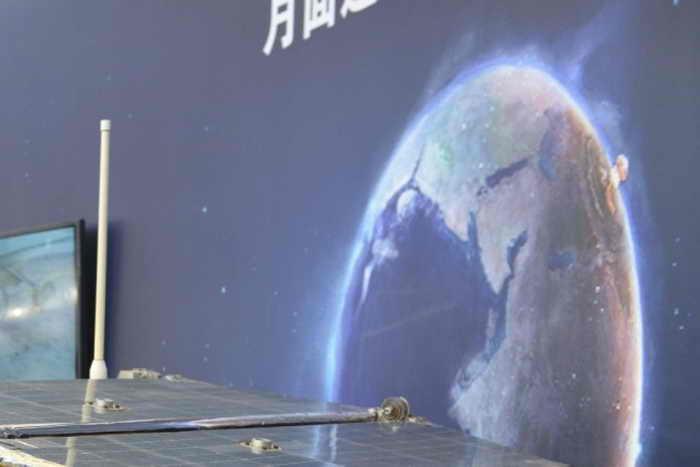 Крупный план ядерного взрыва над Европой, который Китай выбрал фоном для демонстрации своей космической программы. Фото: PETER PARKS/AFP/Getty Images
