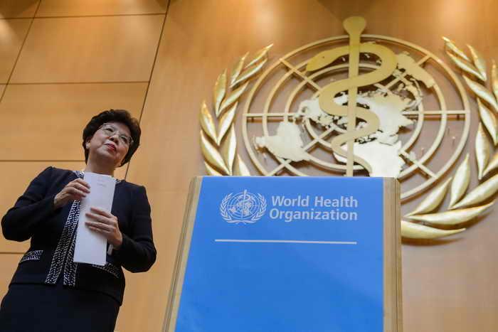 ВОЗ. Директор Маргарет Чан. Страны-члены ВОЗ объединились для искоренения полиомиелита. Фото: FABRICE COFFRINI/AFP/GettyImages