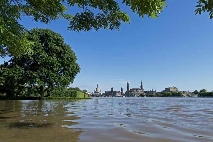 Наводнение в Германии. Дрезден. Фото: ROBERT MICHAEL/AFP/Getty Images