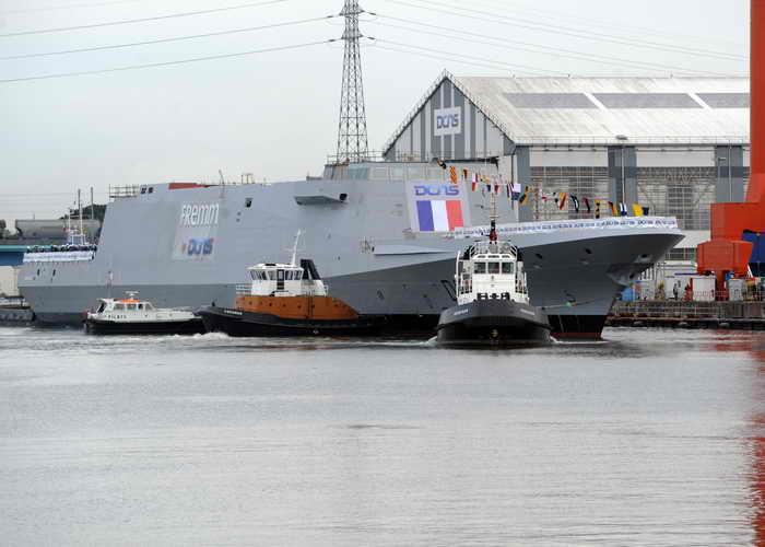 Французский многоцелевой фрегат «Норманди» начал ходовые испытания. Фото: FRED TANNEAU/AFP/Getty Images