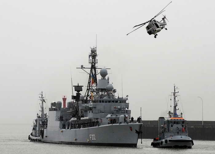 Фрегата «Карлсруэ» военно-морских сил (ВМС) Германии. Фото: DAVID HECKER/AFP/Getty Images