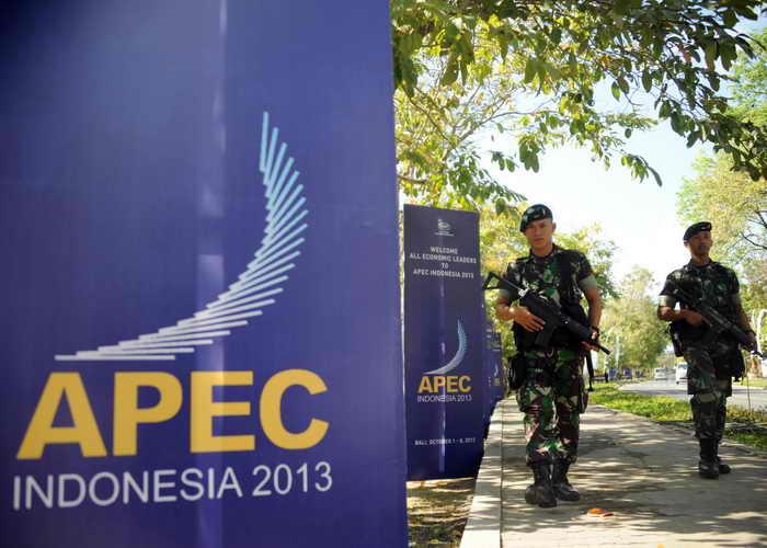 В Индонезии начинается саммит АТЭС. Фото: SONNY TUMBELAKA/AFP/Getty Images