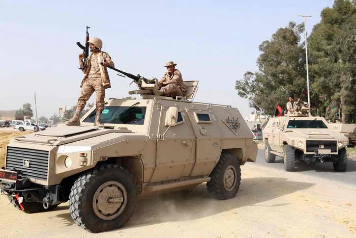 Ливийские силы безопасности. Фото: MAHMUD TURKIA/AFP/Getty Images