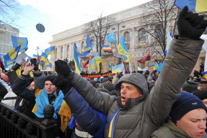 Киев. Активисты Евромайдана. Фото: GENYA SAVILOV/AFP/Getty Images