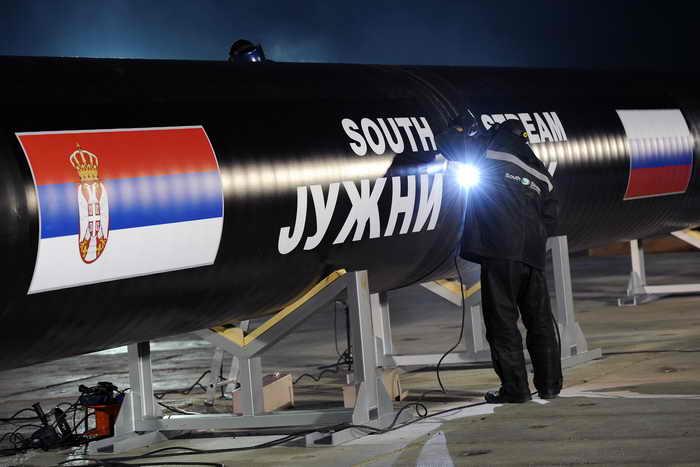 В Сербии положено начало строительству газопровода «Южный поток». Фото: ANDREJ ISAKOVIC/AFP/Getty Images