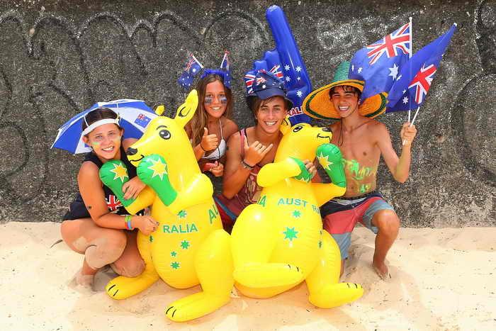Счастливые австралийцы. Фото: Brendon Thorne/Getty Images
