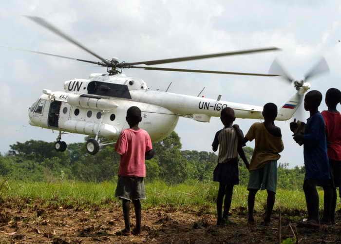 Миссия ООН в Либерии. Фото: GEORGES GOBET/AFP/Getty Images