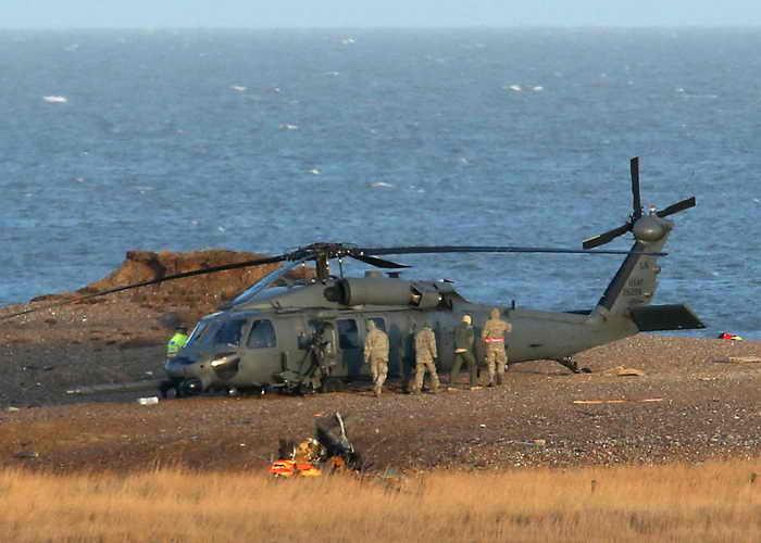 В восточном районе Великобритании в графстве Норфолк произошло крушение вертолёта американских ВВС. Фото: Stephen Pond/Getty Images