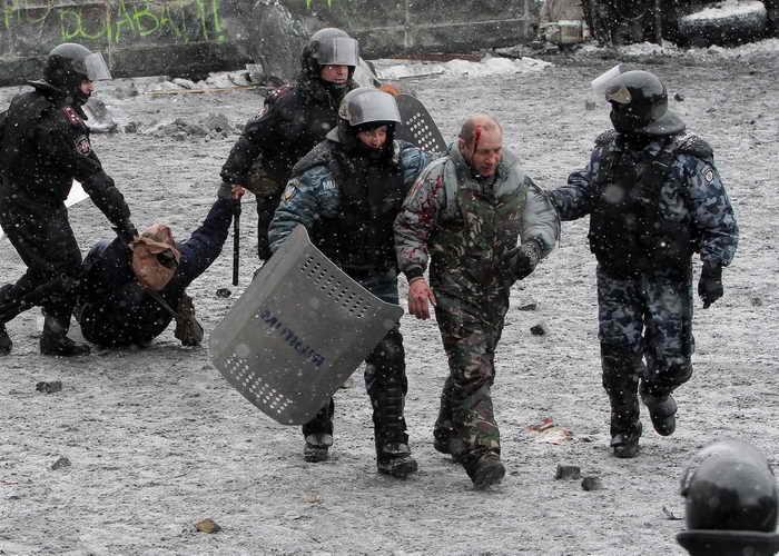 Евросоюз осудил насилие в Киеве. Фото: ANATOLII BOIKO/AFP/Getty Images