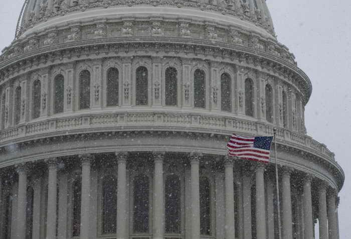 В США непогода создала экстремальные условия. Фото: SAUL LOEB/AFP/Getty Images
