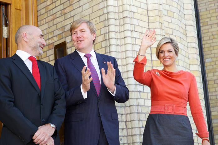 Председатель парламента Норвегии Даг Терье Андерсен, Король Нидерландов Виллем-Александр и его супруга, королева Максима, в Осло 2 октября 2013 года. Фото: Ragnar Singsaas/Getty Images
