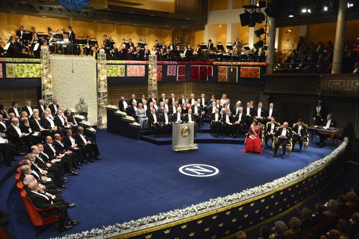 Церемония награждения Нобелевской премией прошла в столице Швеции 10 декабря. Фото: Pascal Le Segretain/Getty Images