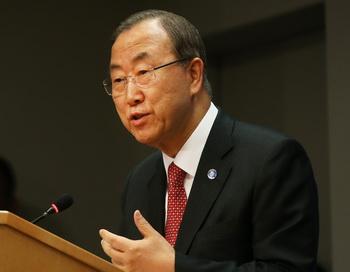 Генеральный секретарь организации Объединенных Наций Пан Ги Мун. Фото: Spencer Platt/Getty Images