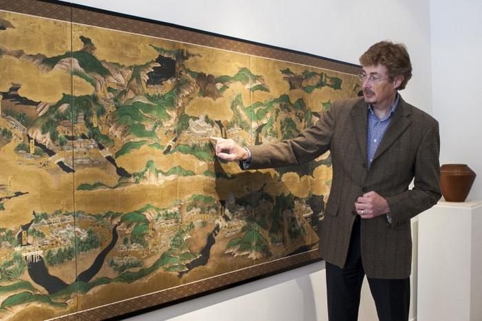 Деталь в картине «Сцены великого восточного пути» периода Эдо, ок. 1700, галерея Эрика Томсена, Нью-Йорк, 12 марта 2014 года. Фото: Samira Bouaou/Epoch Times