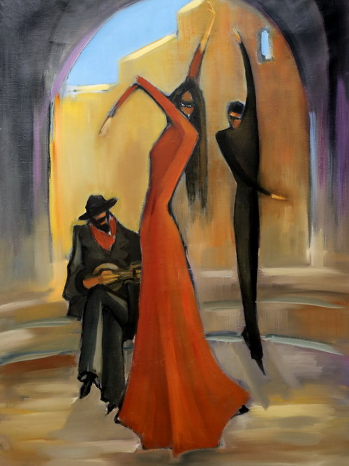 Работа Веры Секириной на художественной выставке «Пятый этаж». Фото представлено Степаном Кильдишевым