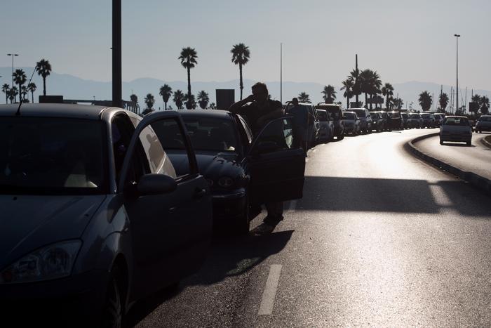 Очереди на границе Испании и Гибралтара, 18 августа 2013 года. Фото: Pablo Blazquez Dominguez/Getty Images