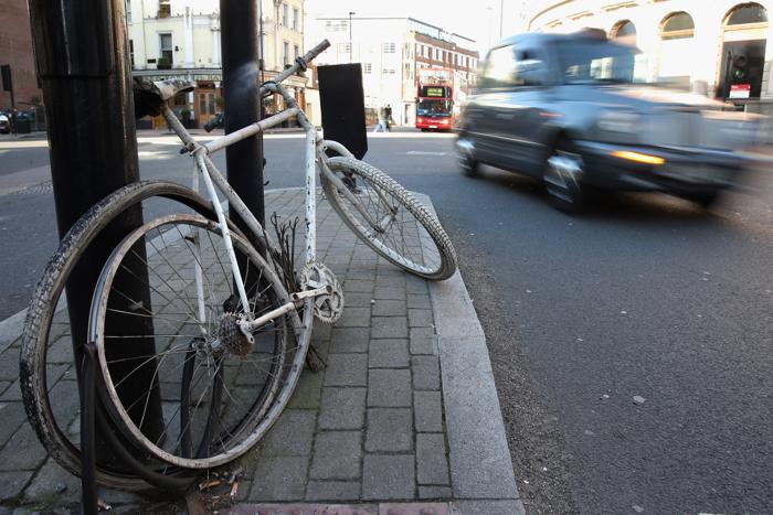 Безопасность велоспорта в Лондоне находится под пристальным вниманием в ноябре 2013 года. Фото: Oli Scarff / Getty Images