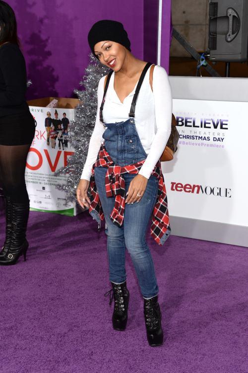 Актриса Меган Гуд на показе фильма о Джастине Бибере Believe 3D («Верь») в Лос-Анджелесе 18 декабря 2013 года. Фото: Jason Kempin/Getty Images