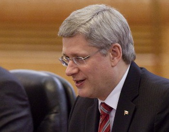 Премьер-министр Канады Стивен Харпер. Фото: Diego Azubel-Pool/Getty Images
