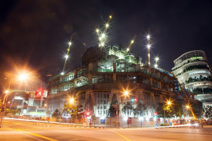 Область Сингапура Portsdown. Несмотря на недавний спад, строительный бум продолжился в Сингапуре в августе 2013 года. Фото: Nicky Loh/Getty Images