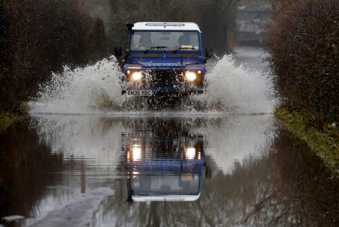 Наводнение в графстве Сомерсет (Великобриатния) 30 января 2014 года. Фото: Matt Cardy/Getty Images
