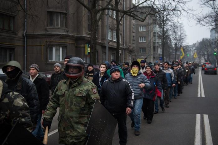 Активисты Евромайдана освободили здание администрации Киева. Фото: MARTIN BUREAU/AFP/Getty Images
