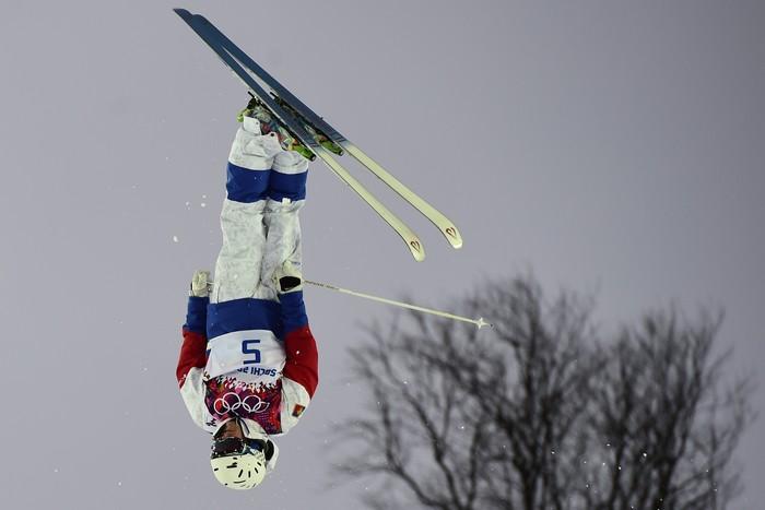 Бронзовый призёр в мужском могуле российский спортсмен Александр Смышляев, 10 февраля, 2014 год. Фото: JAVIER SORIANO/AFP/Getty Images