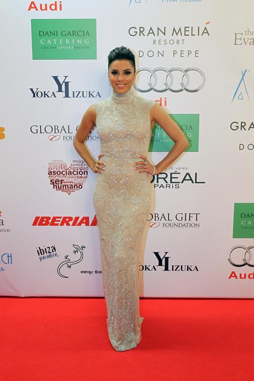 Ева Лонгория на благотворительном ужине Global Gift Gala 2013, который состоялся в отеле Gran Melia Don Pepe Resort 4 августа 2013 года. Фото: Daniel Perez/Getty Images
