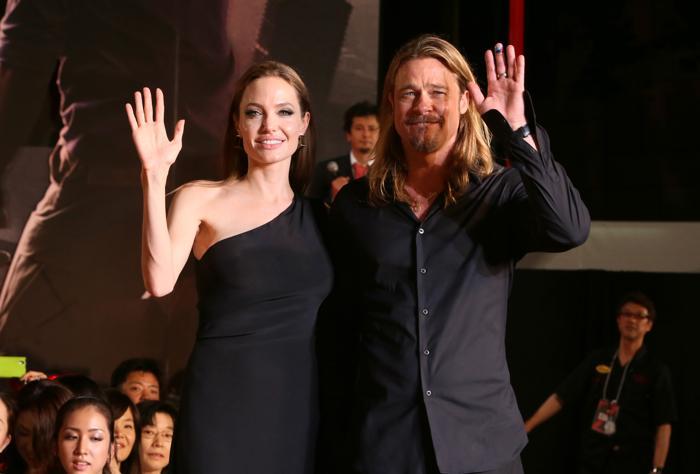 Брэд Питт и Анджелина Джоли. Фото: Ken Ishii/Getty Images for Paramount Pictures