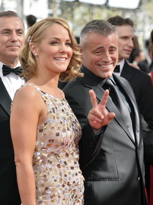 Актёр Мэтт Леблан (справа) и Андреа Андерс прибыли на 65-ю ежегодную церемонию вручения наград «Эмми», которая состоялась в голливудском театре «Нокиа» 22 сентября 2013 года в Лос-Анджелесе, Калифорния (США). Фото: Frazer Harrison/Getty Images
