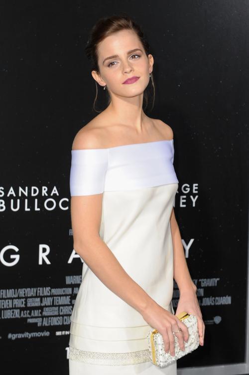Эмма Уотсон прибыла на премьеру фильма «Гравитация», состоявшуюся 1 октября 2013 года в Нью-Йорке, США. Фото: Michael Loccisano/Getty Images