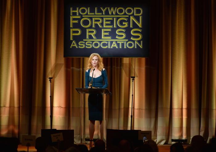 Николь Киндман на торжественном приёме, организованном Голливудской ассоциацией иностранной прессы (The Hollywood Foreign Press Association, HFPA) в Беверли Хиллз, Калифорния, 13 августа 2013 года. Фото: Mark Davis/Getty Images
