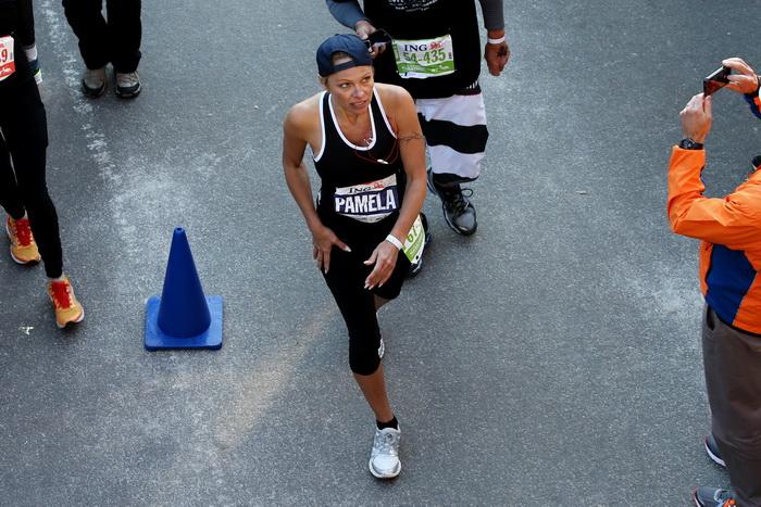 Памела Андерсон участвовала в марафоне с благотворительной целью. Фото: Neilson Barnard/Getty Images