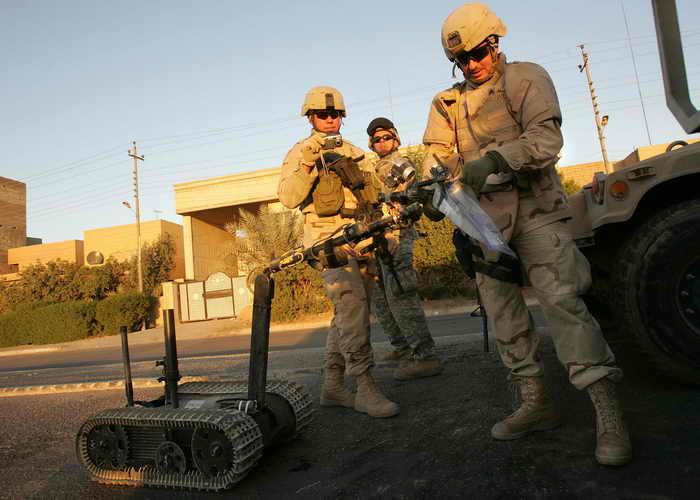 Американские военные применяют робота. Фото: John Moore/Getty Images