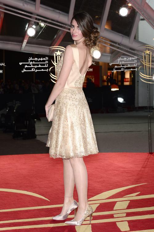 Актриса Сара Обри прибыла на 13-й международный кинофестиваль 1 декабря в Марракеше (Марокко). Фото: Dominique Charriau/Getty Images