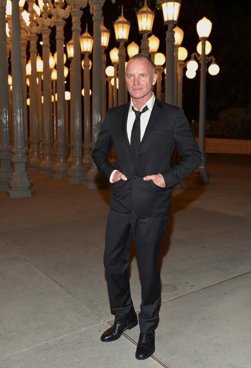 Певец  Стинг на вечере LACMA Art + Film Gala 2013 в Лос-Анджелесе 2 ноября 2013 года. Фото: Charley Gallay/Getty Images for LACMA