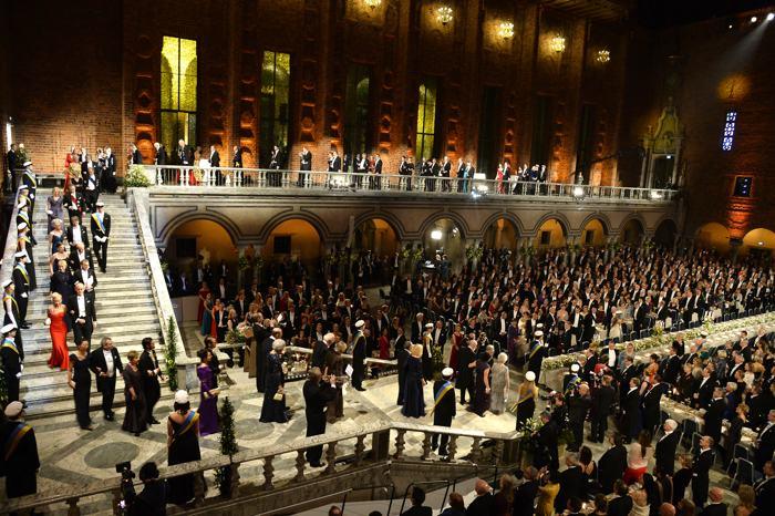 Общий вид банкета в Стокгольмской ратуше10 декабря 2013 года после вручения Нобелевской премии 2013. Фото: Pascal Le Segretain/Getty Images