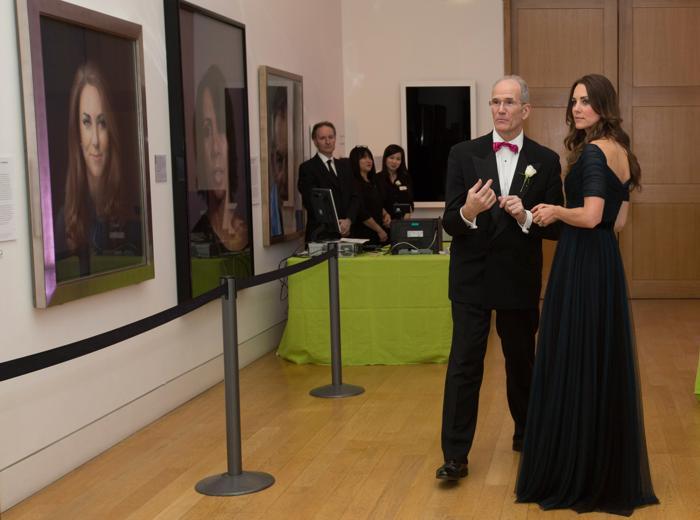 Герцогиня Кембриджская Кетрин посетила приём в портретной галерее Лондона 11 февраля 2014 года. Фото: Alastair Grant-WPA Pool/Getty Images
