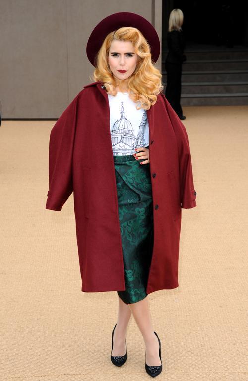 Палома Фэйт прибыла на показ коллекции одежды классической британской марки Burberry Prorsum 17 февраля 2014 года на Неделе моды в Лондоне. Фото: Anthony Harvey/Getty Images