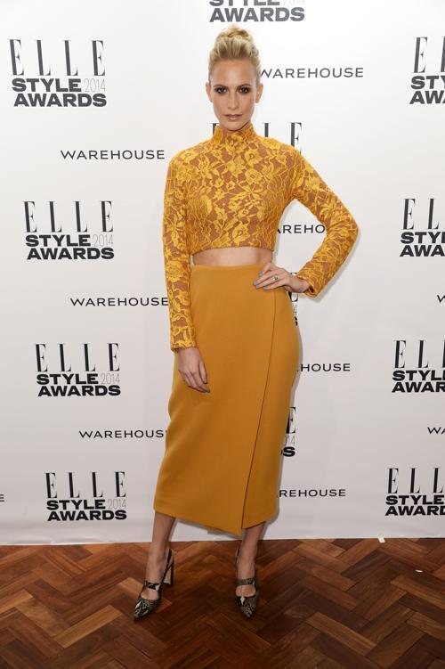 Поппи Делевинь прибыла на церемонию вручения модной премии ELLE в Лондоне 18 февраля 2014 года. Фото: Ian Gavan/Getty Images