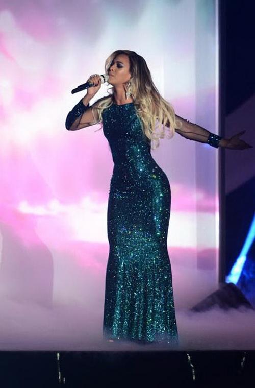 Бейонсе выступила на церемонии вручения британской музыкальной премии Brit Awards 2014 в Лондоне.  Фото: Ian Gavan/Getty Images