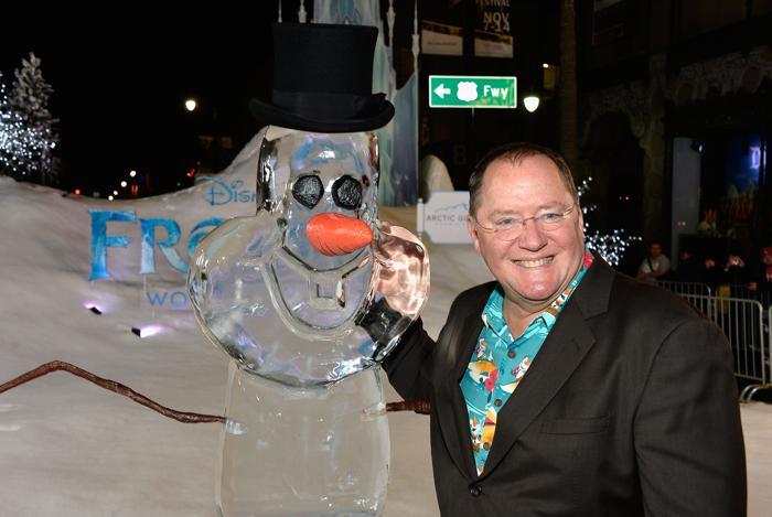 Исполнительный продюсер мультфильма Джон Лассетер на премьере мультфильма «Холодное сердце» от анимационной компании «Уолт Дисней» в Голливуде 19 ноября 2013 года. Фото: Frazer Harrison / Getty Images