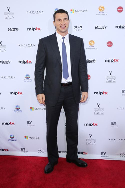 Владимир Кличко посетил вручение международной премии Эмми (International Emmy Awards) 25 ноября 2013 года в Нью-Йорке. Фото: Neilson Barnard/Getty Images