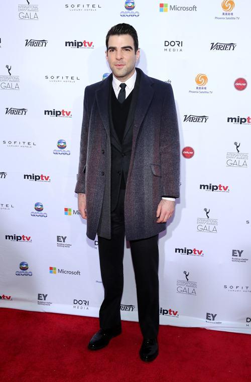 Закари Куинто стал лауреатом международной премии Эмми (International Emmy Awards) 25 ноября 2013 года в Нью-Йорке. Фото: Neilson Barnard/Getty Images
